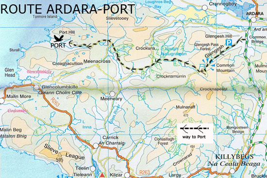 Port is about half an hour's drive from Ardara