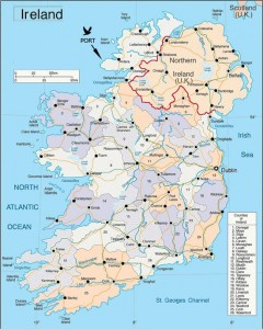 Donegal is the most northerly county of the Republic of Ireland